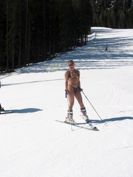 Pic #3 - Elise Skies Among Other Skiers