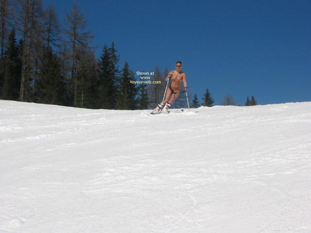 Pic #8 - Elise Skies Among Other Skiers