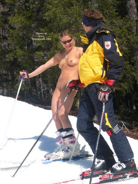 Pic #9 - Elise Skies Among Other Skiers