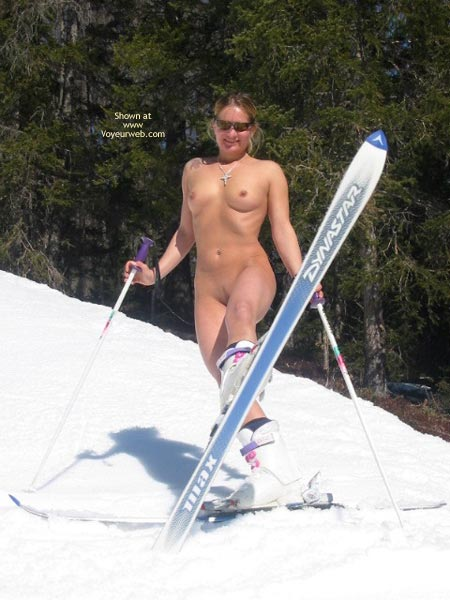Pic #10 - Elise Skies Among Other Skiers