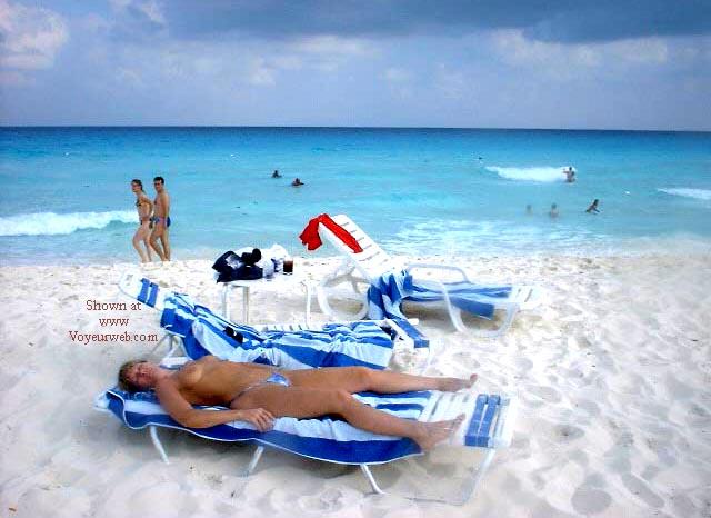 Pic #1 - Purple Patty's Blue Bikini Topless
