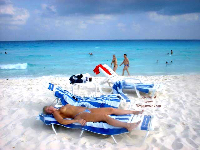 Pic #2 - Purple Patty's Blue Bikini Topless