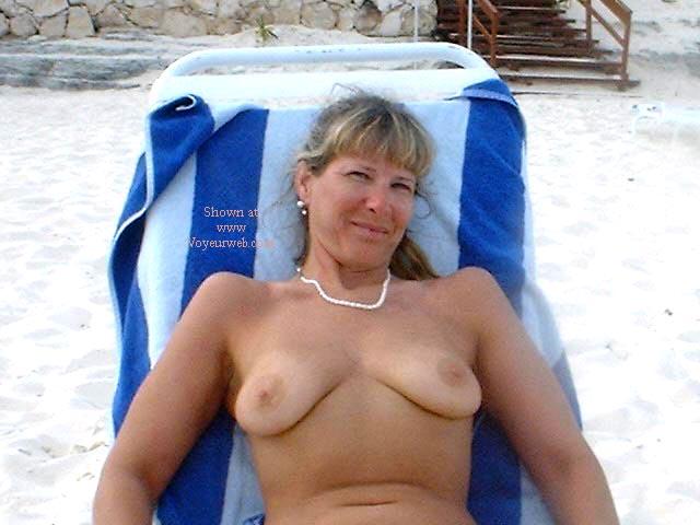 Pic #4 - Purple Patty's Blue Bikini Topless