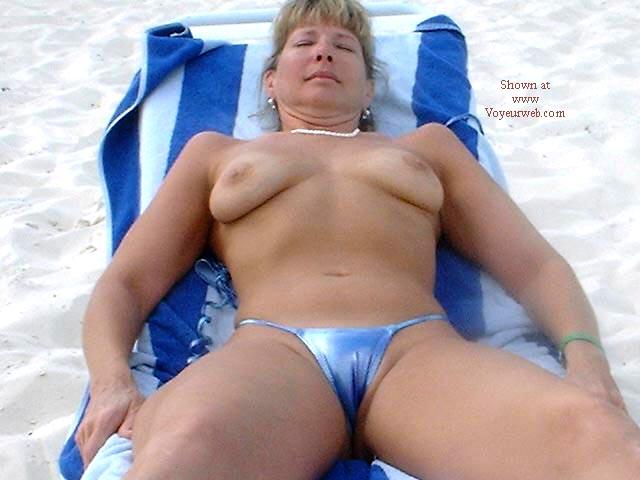 Pic #5 - Purple Patty's Blue Bikini Topless