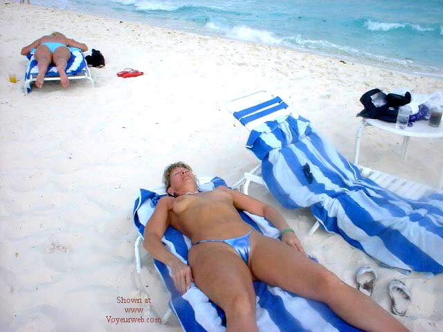 Pic #6 - Purple Patty's Blue Bikini Topless