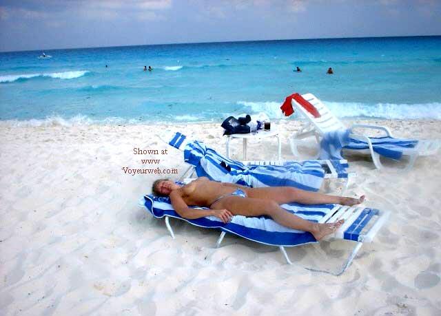 Pic #7 - Purple Patty's Blue Bikini Topless
