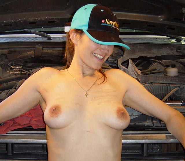 Pic #1 - Full Frontal Topless - Erect Nipples, Hat, Large Aerolas, Perky Tits, Topless , Full Frontal Topless, Naked With A Truck Driver Hat, Erect Nipples, Large Aerolas, Perky Tits