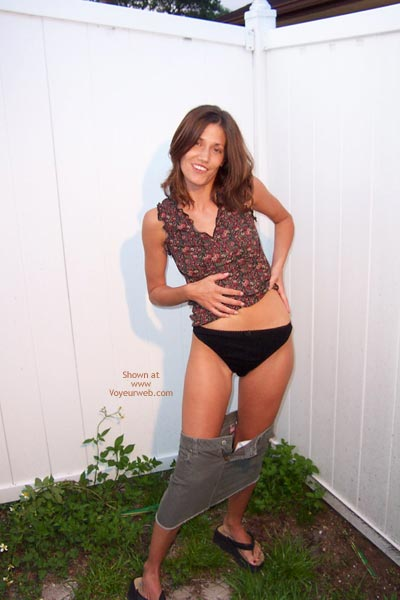 Pic #4 - Shannon Strips Outside