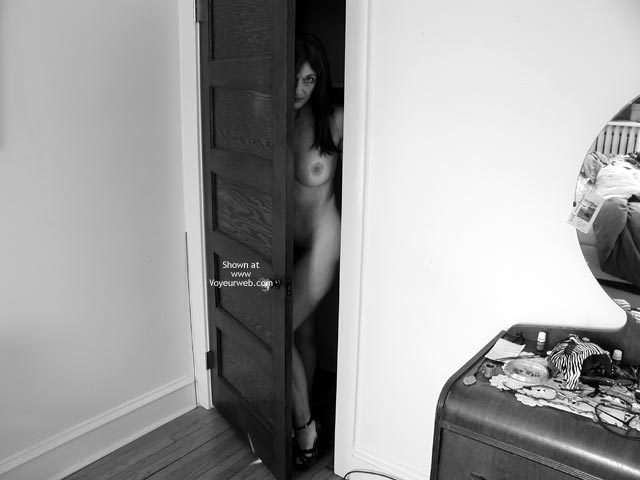Pic #1 - Black And White - Black And White , Black And White, Peeking Out, Coming Out Of The Closet