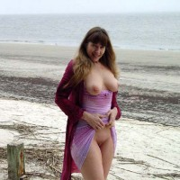 Purple Patty At A Jekyll Island Beach