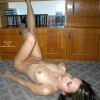 Nude In Heels On Carpet