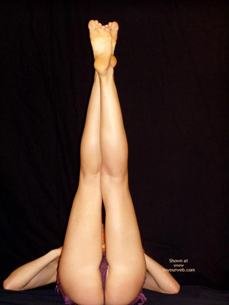 Pic #1 - Kilometric Legs - Leg Up , Kilometric Legs, Legs Up, Intraviewed Pussy, All Smiles, Purple Teddy, Legs In Air