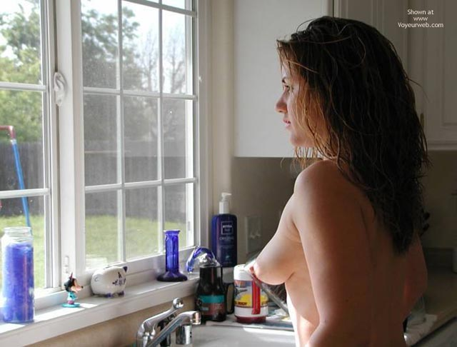Pic #1 - Perky Tits - Perky Tits, Topless , Perky Tits, Kitchen Sink, Looking Out Window, Topless Kitchen, Long Tits, Topless