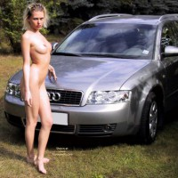 Outside - Nude Outdoors, Naked Girl