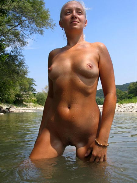 Pic #1 - Nude Girl Outdoors - Small Tits , Nude Girl Outdoors, Camping, River, Small Tits, Outdoors In Lake, Naked In Nature