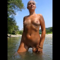 Nude Girl Outdoors - Small Tits