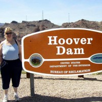 Wife At Hoover Dam