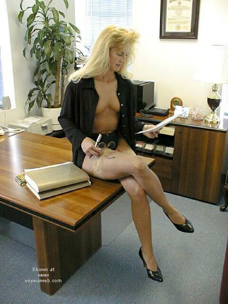 Pic #2 - Brooke at the Office 4