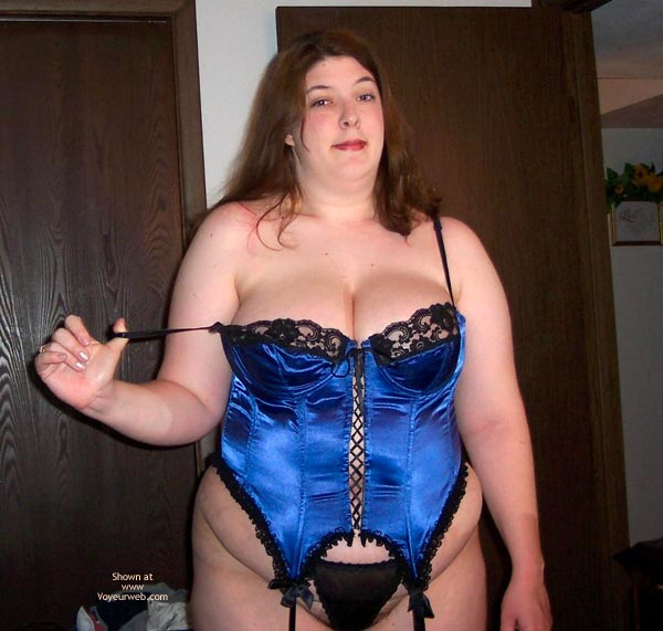 Pic #6 - Wife Possing For Me In A Corset!