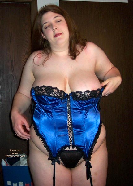Pic #7 - Wife Possing For Me In A Corset!