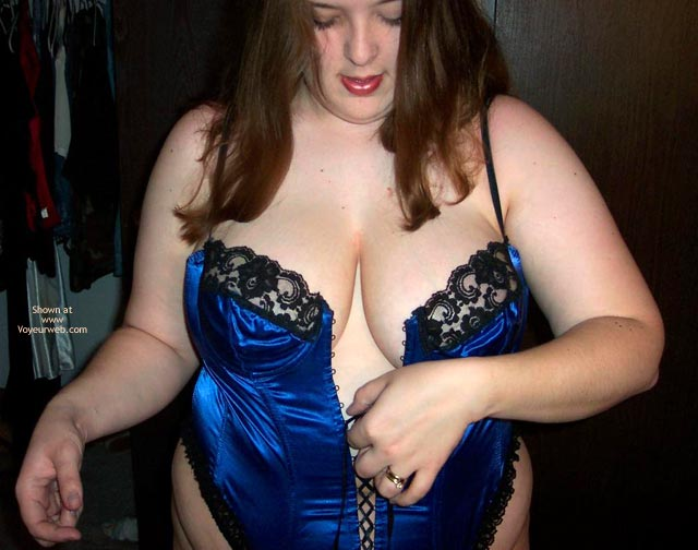 Pic #8 - Wife Possing For Me In A Corset!