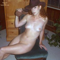 Cowboy Hat - Cowboy Hat, Small Boobs, Looking At The Camera