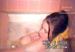 Pic #3 - My Wife Taking a Bath