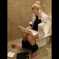 Using Laptop On Toilet