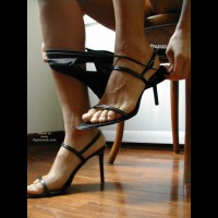 Strappy High Heels - Sexy Panties