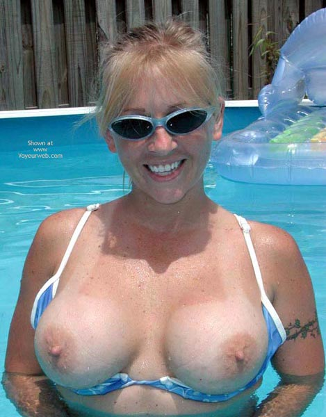 Pic #1 - Big Boobs - Big Tits, Blonde Hair, Huge Tits , Big Boobs, Topless Outdoor, Woman Wearing Glasses, Topless In Pool, Blonde, Large Tits
