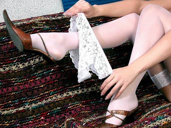 Pic #7 - Neda Taking Off Her White Panties