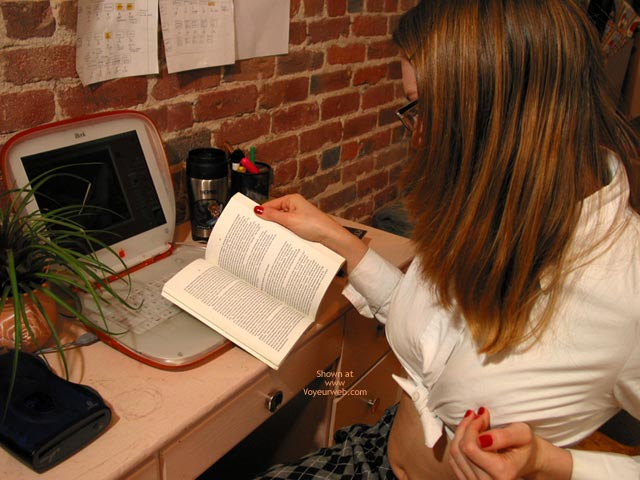 Pic #2 - Leila Studying Lesbian Sexuality
