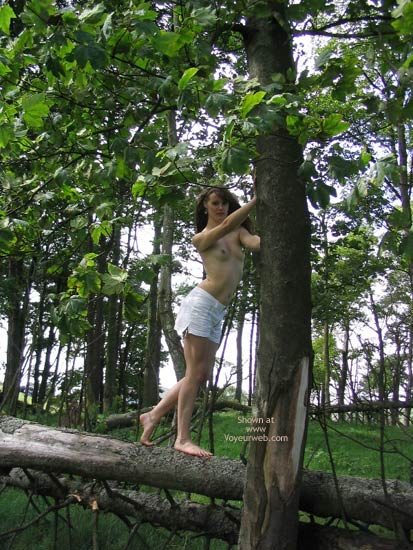 Pic #1 - Slavegirl Penny  Climbing The Tree