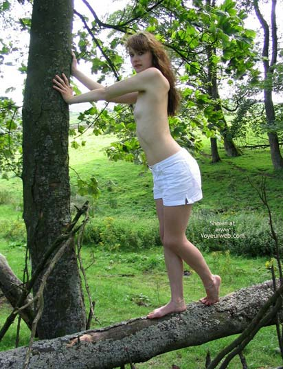 Pic #5 - Slavegirl Penny  Climbing The Tree