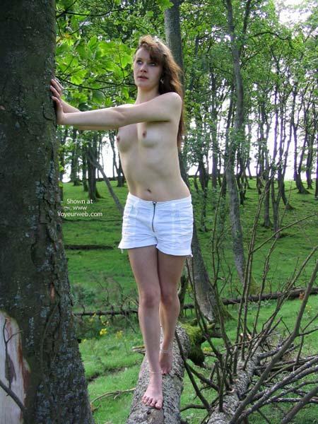 Pic #6 - Slavegirl Penny  Climbing The Tree