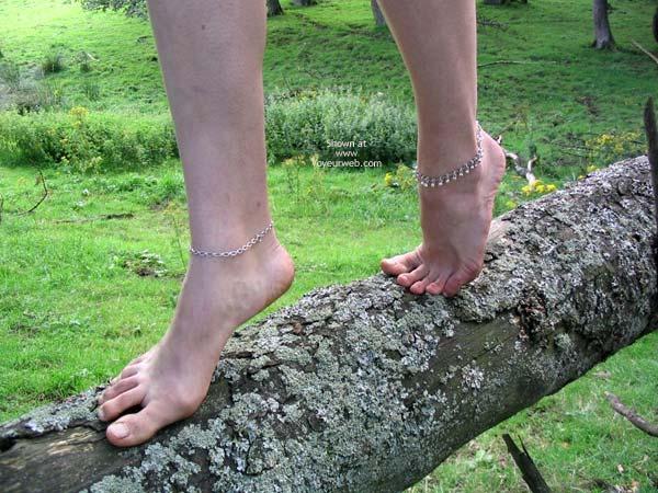 Pic #8 - Slavegirl Penny  Climbing The Tree