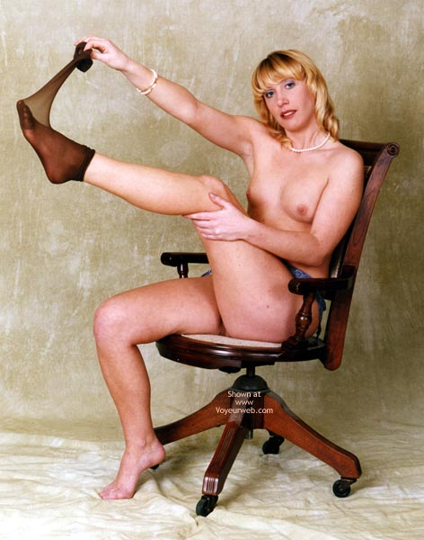 Pic #1 - Nylons , Nylons, Posed Nude On Chair, Lemon Tits