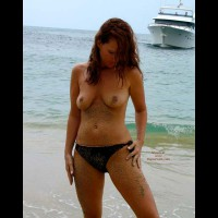 Sandy Nipples - Navel Piercing, Nipples, Nude Beach