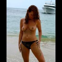 Sandy Nipples - Navel Piercing, Nipples, Nude Beach