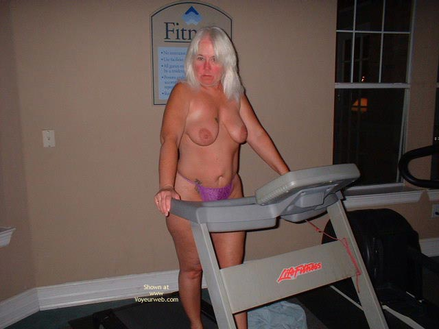 Pic #2 - Tammy Having Fun In The Wieght Room