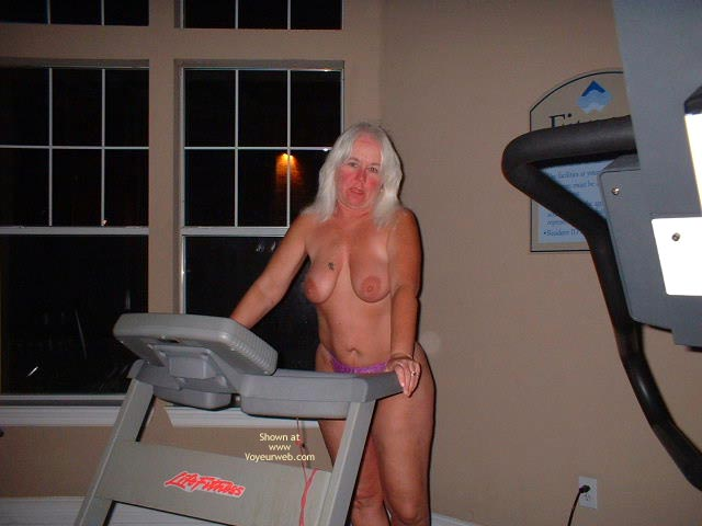 Pic #3 - Tammy Having Fun In The Wieght Room