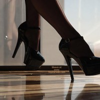 Black Stockings - Heels, Stockings