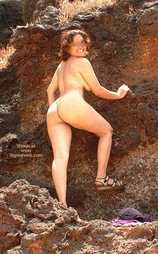 Pic #3 - Indian Babe Nude On The Rocks
