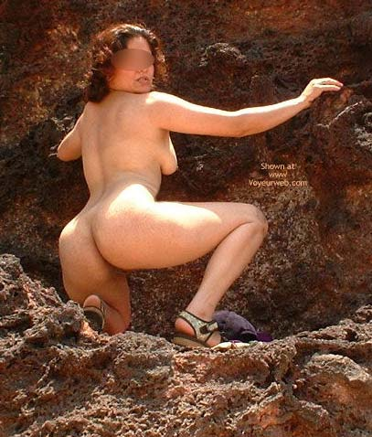 Pic #6 - Indian Babe Nude On The Rocks