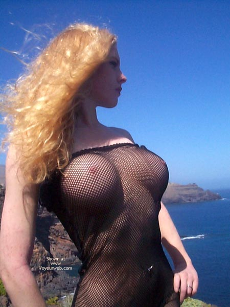 Pic #7 - Outdoors In Seethru Dress