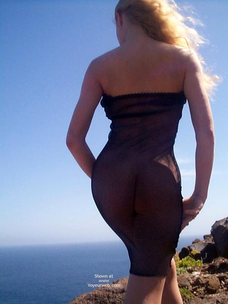 Pic #8 - Outdoors In Seethru Dress