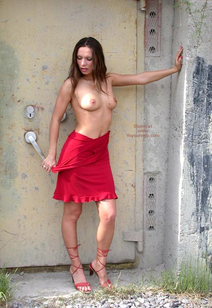 Pic #2 - Natalie Outdoor In A Red Dress