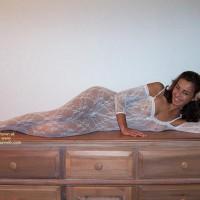 Girl Lying Sideways - Sexy Lingerie