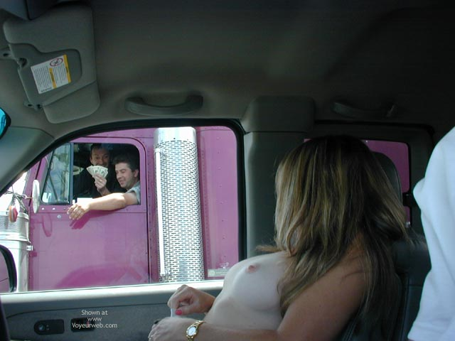 Pic #3 - Candi Keeping The Trucker'S Happy