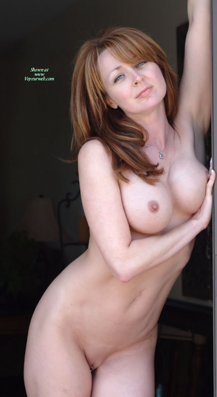 Redhead with large extended clit